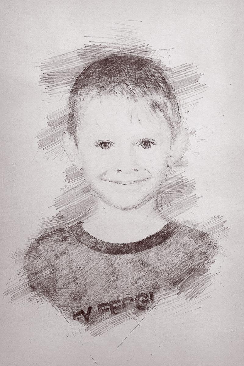 Školní focení kreslený portrét mateřská základní škola-1