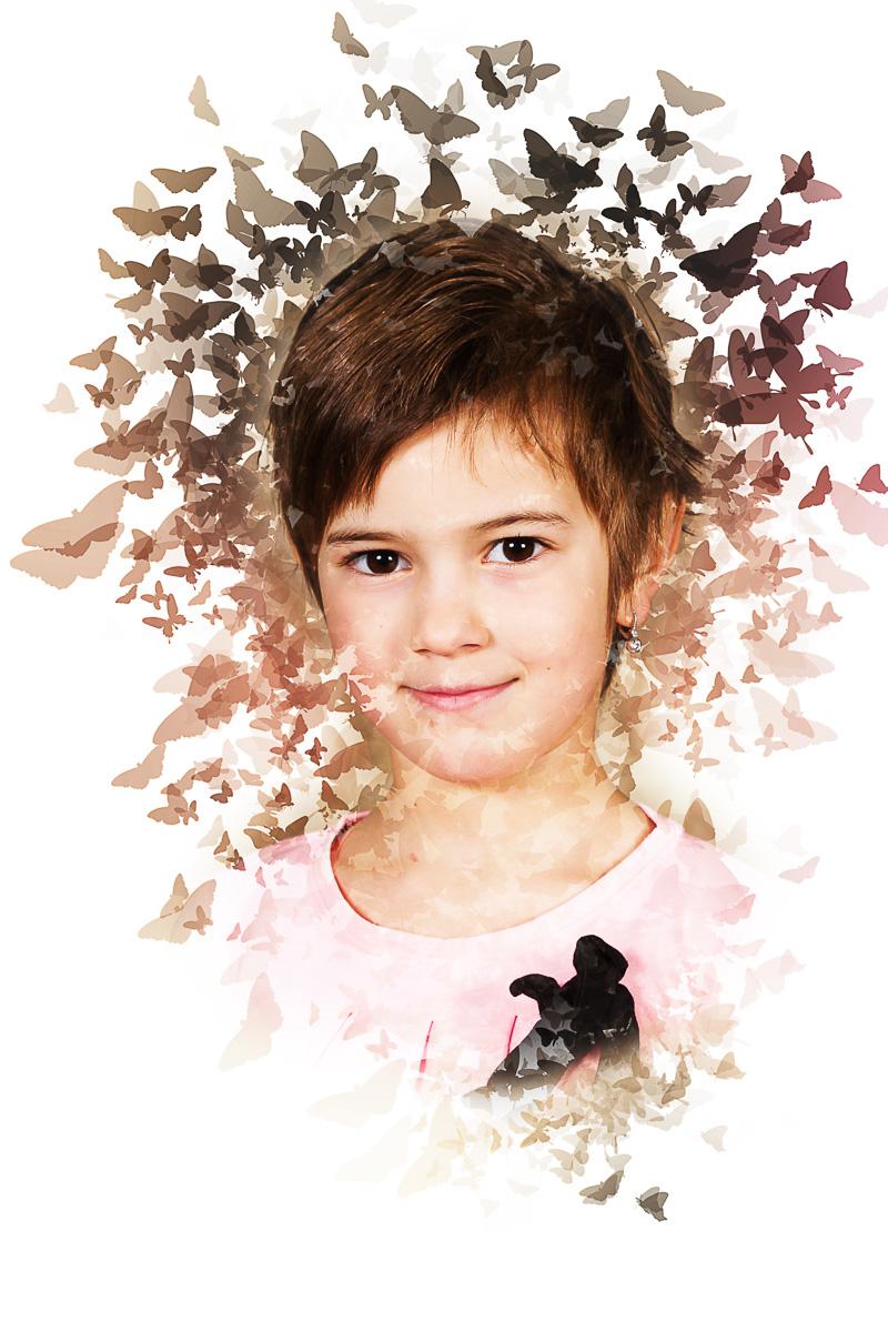 Školní focení motýli portrét mateřská základní škola-4