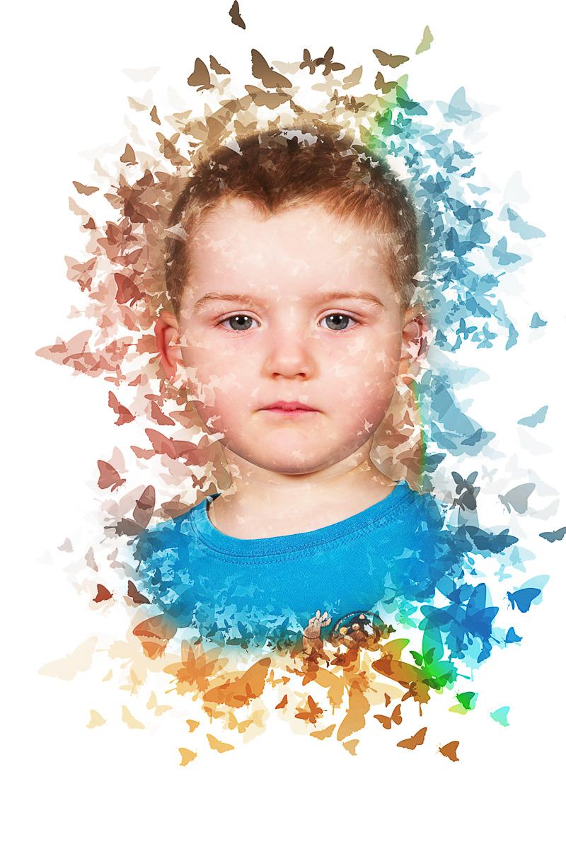 Školní focení motýli portrét mateřská základní škola-8