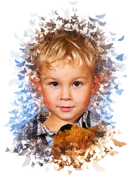 Školní focení portrét motýlci MŠ (6)