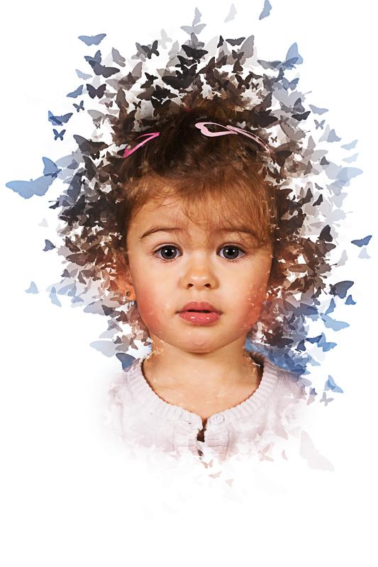 Školní focení portrét motýlci MŠ (7)