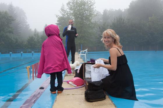 Fotografování pod vodou backstage