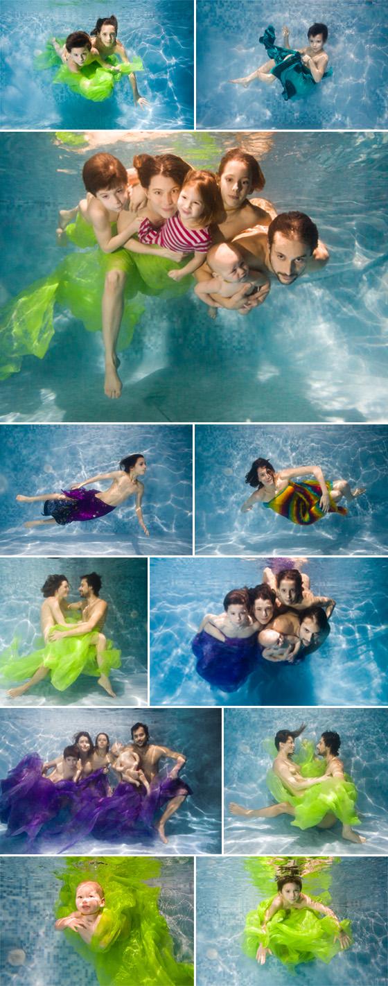 Rodinné fotografie pod vodou