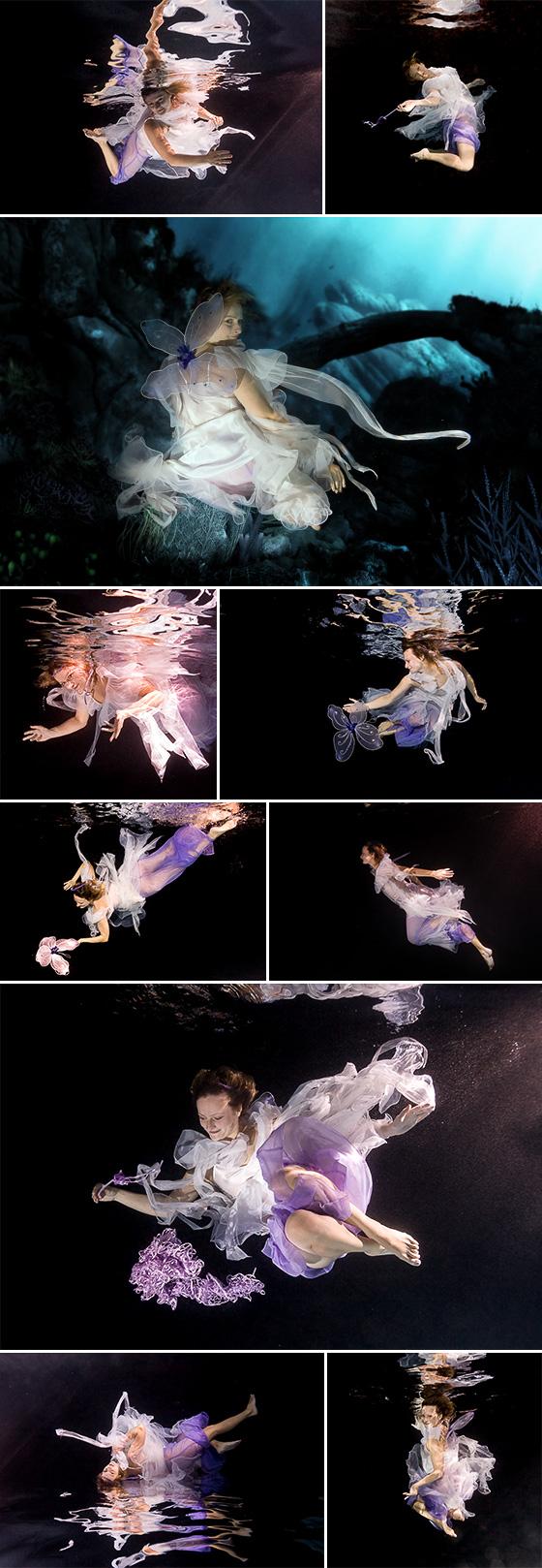 Víla pod vodou.