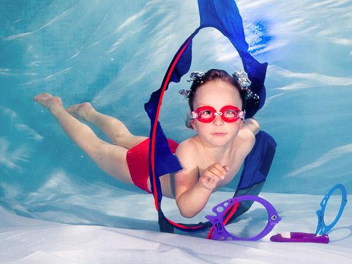 Focení během plaveckého výcviku