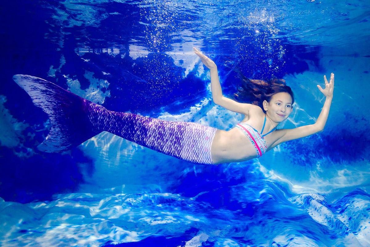 Malá mořská panna - zážitkové focení pod vodou The Little Mermaid