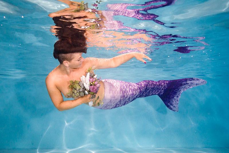 Focení mořských panen pod vodou