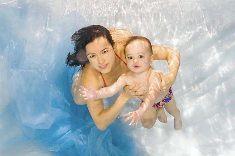 Focení pod vodou v baby klubu