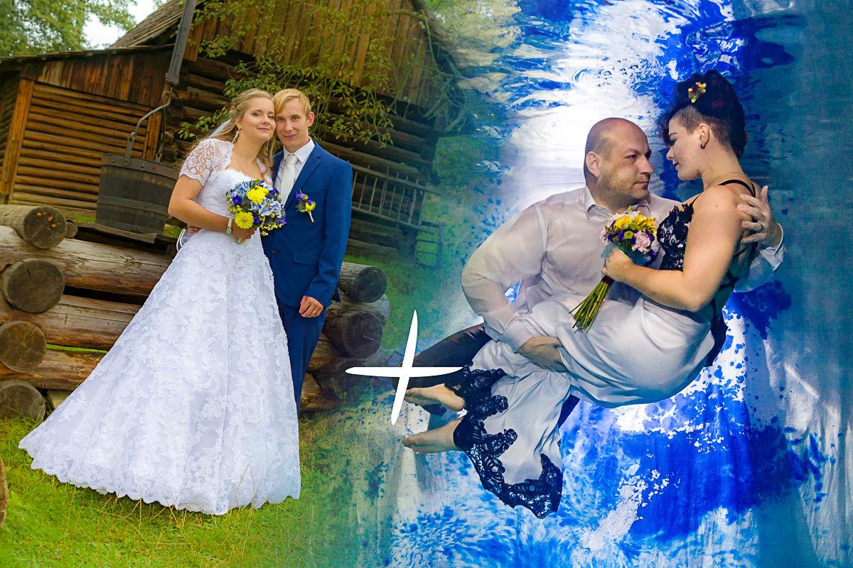 zvýhodněný balíček svatebního focení plus focení pod vodou