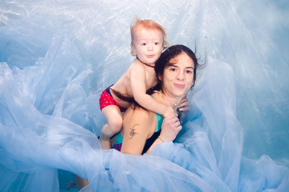 Focení pod vodou a v lekcích v baby klubu